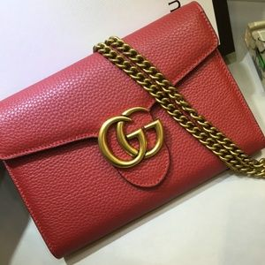 Gucci Red GG Handbag with box